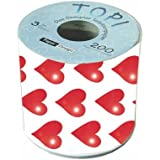 MIK Funshopping Toilettenpapier Herzen - 200 liebevolle Blätter