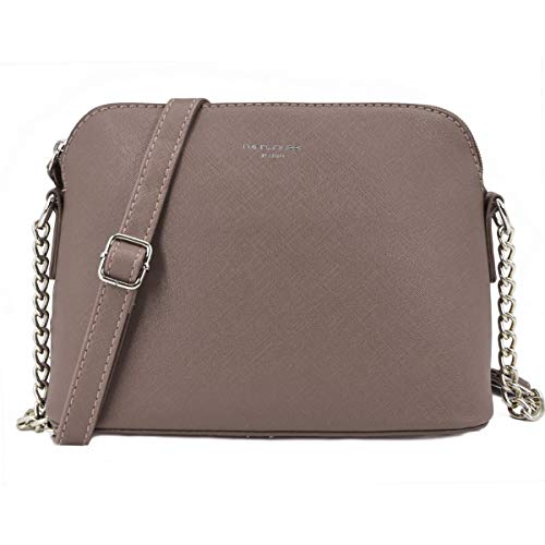 David Jones - Borsa a Tracolla Spalla Donna Catena - Piccola Borsa Mano Messenger PU Pelle - Clutch Borsetta Sera Sacchetto Pochette Borsello Moda Elegante - Shopping Viaggio Crossbody Bag - Talpa