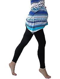Mallas de maternidad con banda de vientre y estampado de chevron e impresas multicolores