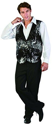 Ridere e coriandoli - Gif La012 - Costume adulto - Charleston giacca dancer argento - uomini - Taglia XL