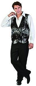 Rire et Confetti Reír y confeti - Fibfla012 - disfraz para adultos - Charleston Bailarín Plata Jacket - Hombres - Tamaño L