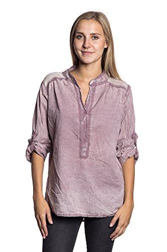 Abbino IG005 Langarm Shirts Tops Ragazze Donne - Made in Italy - Multiplo Colori - Mezza Stagione Primavera Estate Autunno Dinamico Tenerezza Leggero Semplici Shirts Maglie Tempo Libero Cotone Rosa (Art. 18991)