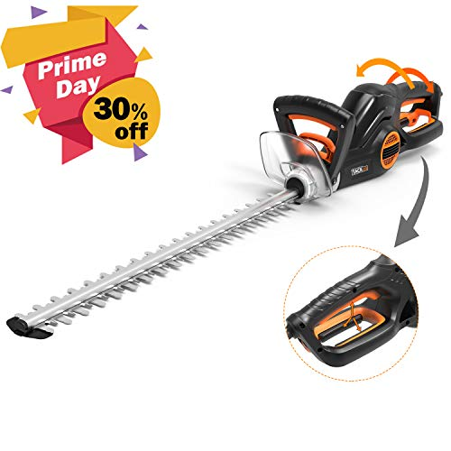 TACKLIFE Taille Haie Électrique, 600W Taille-Haies,...