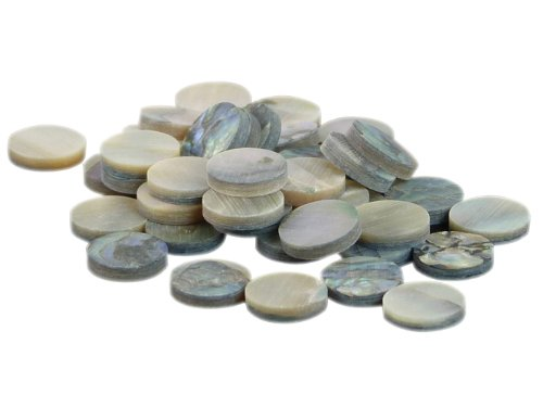 rothko-and-frost-lot-de-10-pastilles-rondes-en-nacre-dormeau-vert-oe-635-x-13-mm