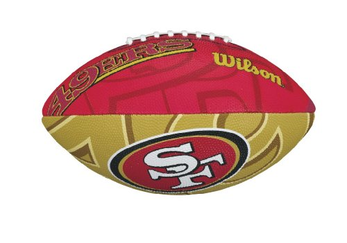 Wilson - NFL Team Logo San Francisco 49ers Junior Official, Color Red/Yellow