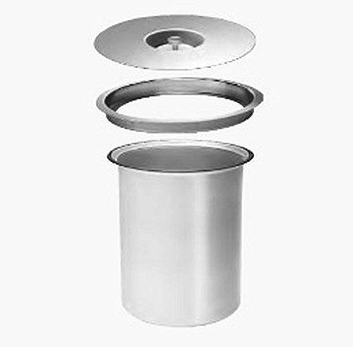 Wesco Ergomaster 5 L - Aluminium - Einbau in Arbeitsplatte Bio Mülleimer (Mülleimer Arbeitsplatte)