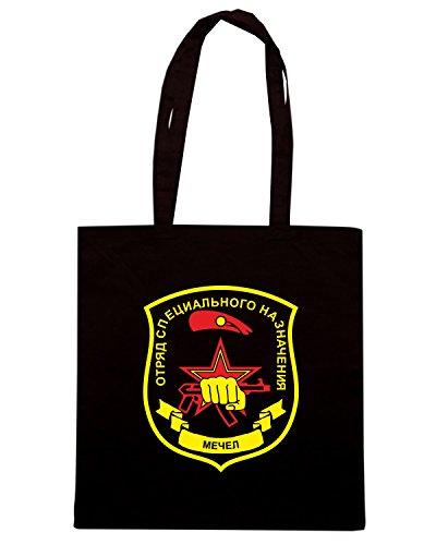 T-Shirtshock - Borsa Shopping T0921 forze speciali mechel militari Nero