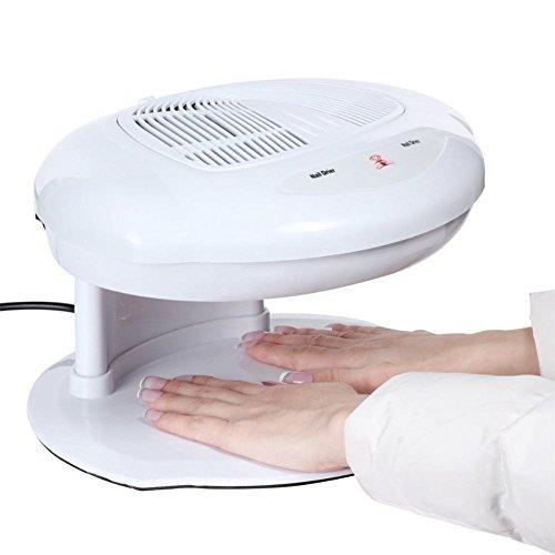 Secadora de uñas Ventilador Viento caliente y frío Soplador de aire de uñas Herramienta de manicura Salón Profesional Infrarrojos Automáticos Sensores dobles para secar el esmalte de uñas Blanco