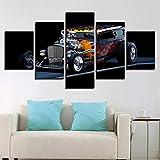 Marco Moderno Abstracto Wall Art Pictures Modular 5 Panel Campo de fútbol para Sala de Estar Decoración del hogar En la Pintura de la Lona 26 40x60 40x80 40x100cm