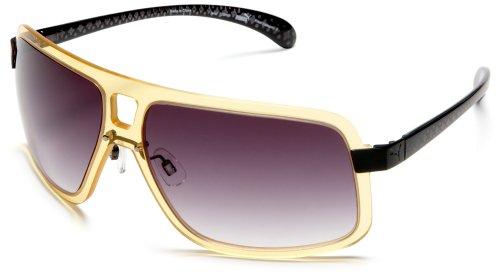 Puma Sonnenbrille PU 15046 gelb + Etui+ Brillenputztuch Sonnen Damen Brille Neu - Puma Sonnenbrille Herren