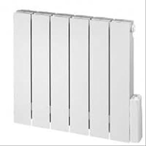 Radiateur électrique 750W fluide caloporteur en alu blanc RAL9010 horizontale 540x600x80mm THAJ LVI France 3633002