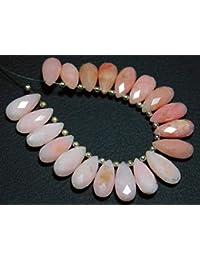 b8aa34282ecb Earth Gems Park Super Fine Quality Gems Jewelry 1 Strand Natural-Peru Pink  Opal Faceted
