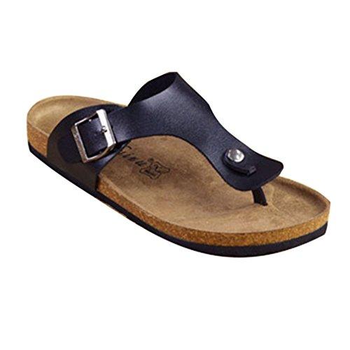 Hibote Herren Damen Strandsandalen Sommerschuhe Pantoletten Sandalen Schuhe Rutschfeste Badeschuhe Kork Flip-Flop 35-45
