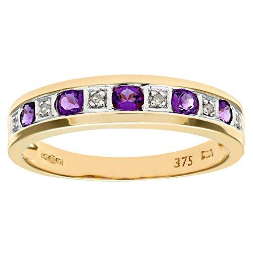 Naava Damen-Ring 375 Weißgold Saphir Diamant 9 Karat Gr. 57 (18.1) PR6861W SA M