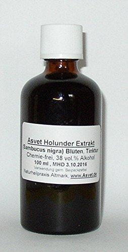 Asvet 100ml Holunder Blüten Extrakt, Tinktur, Tropfen, Konzentrat,höchste Qualität -