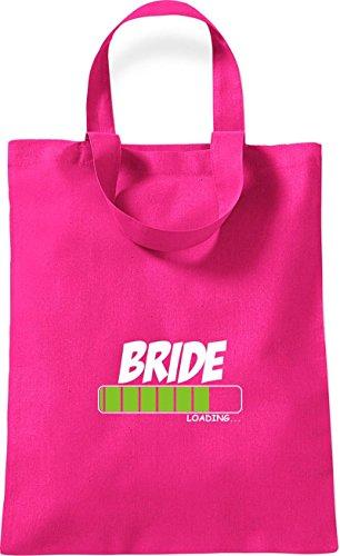 ShirtInStyle kleine Baumwolltasche BRIDE Loading Farbe Rot pink