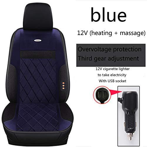 HEIFEN Winter Auto Autositz Elektrische Heizkissen 12 V Mit USB Auto Weibliche Elektrische Kurze Plüsch Massage Heizung Sicherheitsgurt