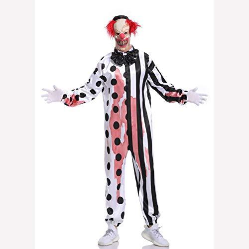 Kostüm Terror - WANLN Herren Clown Overall Kostüm Terror Bloody Halloween Cosplay Bühne Kostüm,L