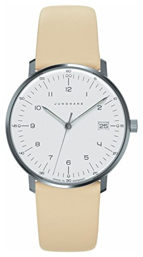 Junghans 047/4252.00 – Wristwatch Women's, Leather Strap Beige