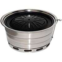 DSHBB Grill Grill Regale, Tragbarer Grill, Tragbare Holzkohle-Grill, Outdoor-Strand Garten Picknicken Camping,5