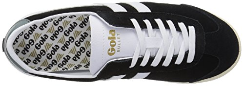 Gola - Bullet Suede, Sneaker basse Donna Nero (Black/white)