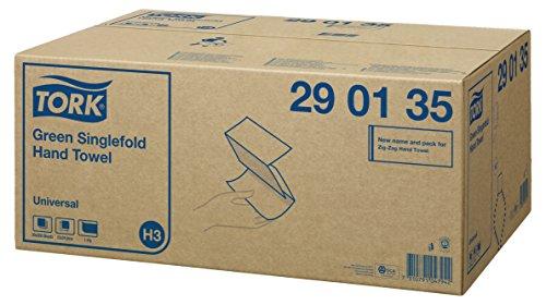 Preisvergleich Produktbild Tork 290135 Zick Zack Papierhandtücher H3 Universal grün - Handtuchpapier für Spender - Falthandtücher 1-lagig - 20 x 200 Papier Tücher (24,8 x 23 cm)