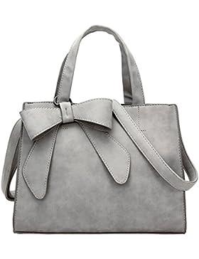 WOMJIA Bow-Tie-Peeling Damen und großzügig stumpfe polnische Einfache Handtaschen