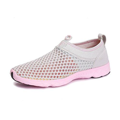 Chaussure de sport pour amoureux randonné adulte mixte basket mode homme femme paresseux léger gris clair