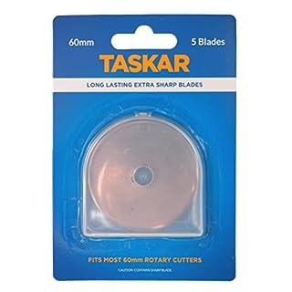 Taskar 60mm Rotary Cutter Blades for Olfa Etc - 5 Pack