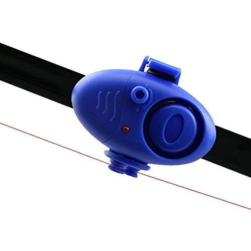 Mall-sonde (SODIAL(R) Outdoor elektronische Clip-on Angeln Fische beissen Alarm Sonde Ton LED Alarm-Summer-Werkzeug -Blau)
