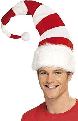 Fancy Me Damen Herren Zuckerstange Rot Weiß Gestreift Weihnachten Santa Hut Festlich Kostüm Verkleidung Zubehör