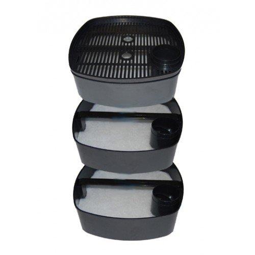 Aquarium External Fish Tank Filter 2000L/H + 9W UV Light Free Filter Media All Pond Solutions 2000EF+