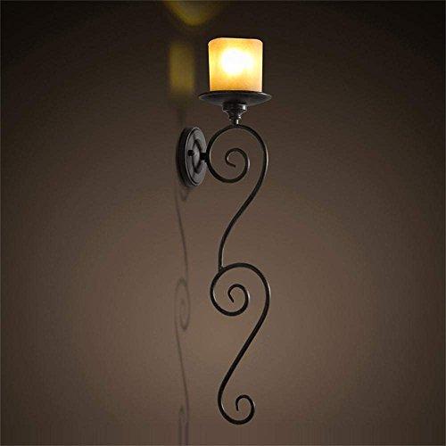 CWJ Wand-Lampe-Eisen Kerze europäischen amerikanischen Land Retro Thema Restaurant Bar Wohnzimmer Flur Schlafzimmer Eisen Wandleuchte - Wand Beleuchtung Dekorationen