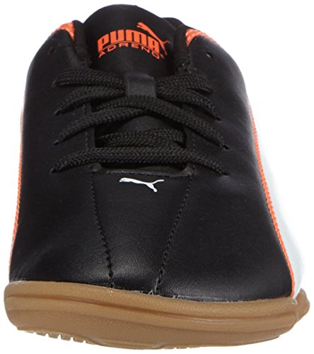Puma Adreno It Jr, Chaussures indoor mixte enfant Noir - Schwarz (black-white-lava blast 05)