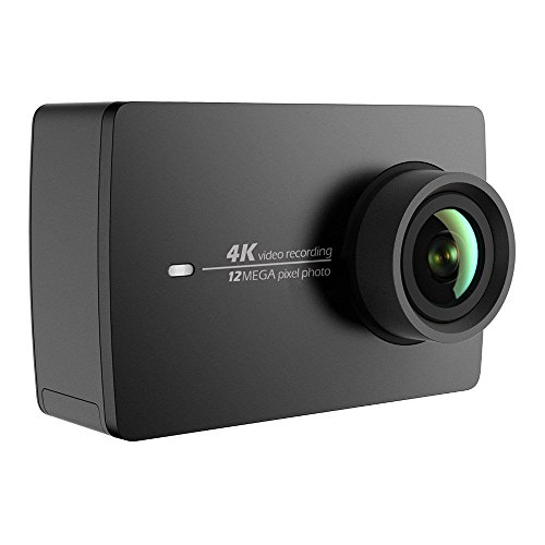 "YI 4K action camera, 4K/30fps, video capture 12MP, ActionCam with 155 ° wide angle, 5.56 cm (2.2"") LCD touchscreen, Wifi and app for smartphone, voice command, negre"
