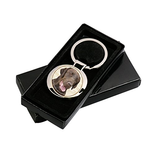 Lukka Flat Coated Retriever Key Ring in a Gift Box