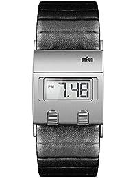 Braun Herren-Armbanduhr Digital Range Digital Quarz Leder BN0076SLBKG