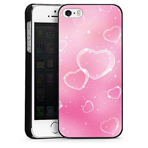 Apple iPhone 5 Housse étui coque protection C½ur Amour Amour CasDur noir