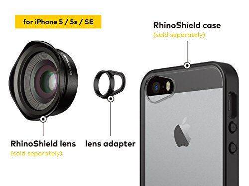 RhinoShield Add-On Lens Adapter for RhinoShield Cases for iPhone 8 / 7 [only for RhinoShield Mod, RhinoShield PlayProof and RhinoShield SolidSuit cases] - Lenses not included iPhone SE/5s/5 Lens Adapter