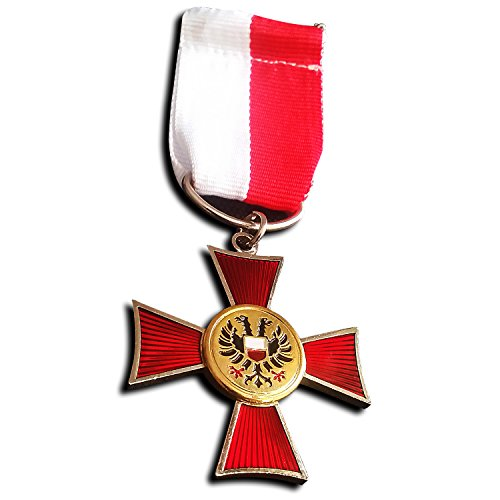 Hanseatic Cross Silver Plated German Medal Lubeck WW1 War Merit Repro