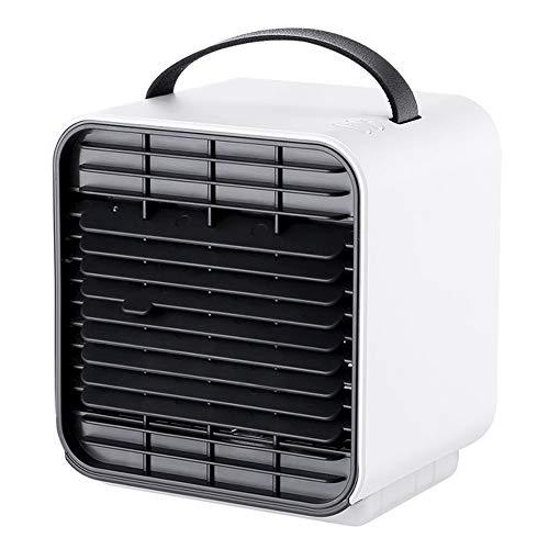 YQSHYP Tragbarer Luftkühler, Mobile Klimaanlage USB 3-in-1-Verdunstungskühler mit Wassertank 3 Einstellbare Geschwindigkeit for Heim und Büro (Color : White) 46-in-1 Usb