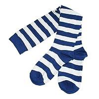 Kid Girl Fancy Dress Costume Party Stripe Over Knee High Socks Stocking Age 8+