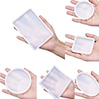 Jewelry Mould Silicone Clear Necklace Pendant Mold Polymer Clay Resin Casting Craft Making DIY