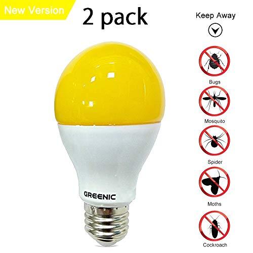 Sostituzione Greenic Yellow Bug lampadina LED 9W (60W), repellente per zanzare luce per interni esterni giardino garage fattoria, 800LM, pezzi