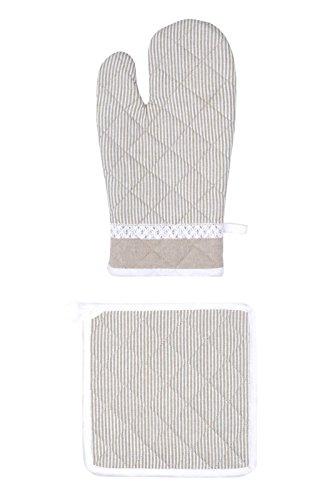 Lovely Casa unserem Webshop Handschuh/Topflappen Baumwolle Leinen 20x 30cm