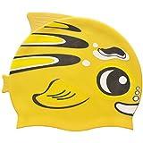 NOVICZ Cute Cartoon Digital Printing Children's Swimming Cap/Kids Swimming Cap/Swim Cap for Boys and Girls