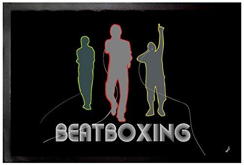 Felpudos Música Band, Beatboxing Felpudo Alfombrilla (60 x 40cm)