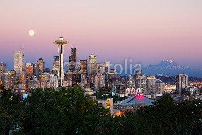 Poster Skyline Von Seattle (Poster-Bild 140 x 90 cm: