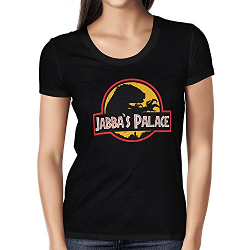 NERDO - Jabba's Palace - Damen T-Shirt Schwarz