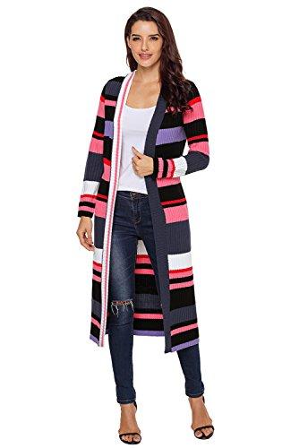 Aleumdr Strickmantel Damen Long-Cardigan Strickjacke Causual Pullover Outwear Lässige Oberteil XL